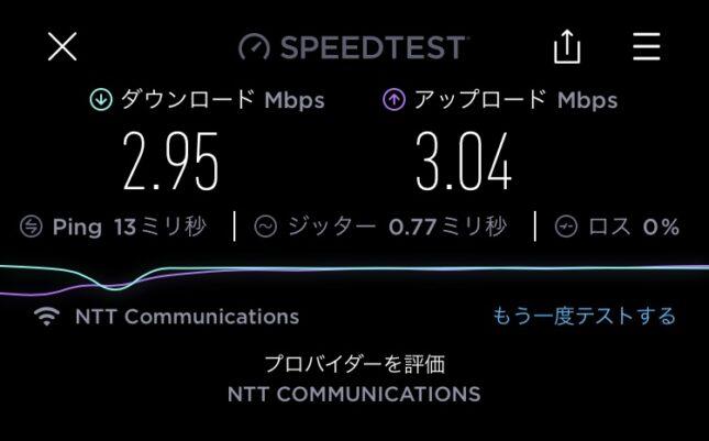 ラウンジ大淀 Wi-Fi スピードテスト